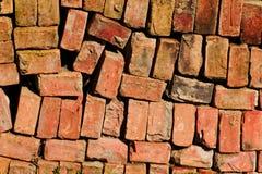 Aged clay bricks royalty free stock photos