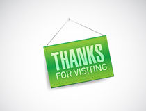 Thanks for visiting hanging sign Stock Photography