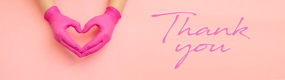 Thanks you - horizontal banner with copy space for text.