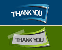 Thanks you sticker design Royalty Free Stock Photography