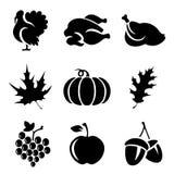 Thanksgivin ikony ilustracji
