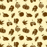 Thanksgivin Seamless Pattern Royalty Free Stock Photos