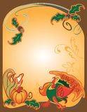 Thanksgiving. Background frame image in bright colors Royalty Free Stock Photo
