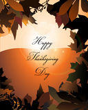 Thanksgiving. Greeting card autumnal background Stock Images