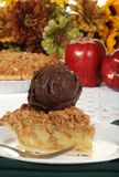 Thanksgiving apple crumble with ice cream Royalty Free Stock Photography