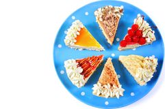 Thanksgiving slices of pie with copy space. stock images