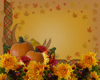Thanksgiving Autumn Background Border Royalty Free Stock Photos