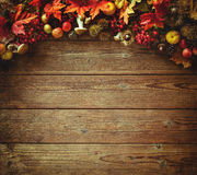 Thanksgiving autumn background Stock Photo