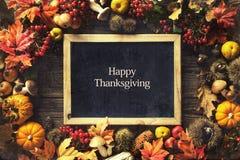 Thanksgiving autumn background Stock Photo