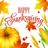 Thanksgiving Autumn Card. Vector Illustration Royalty Free Stock Photography