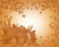 Thanksgiving Autumn Fall border stock photo