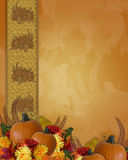 Thanksgiving Autumn Fall Border vector illustration