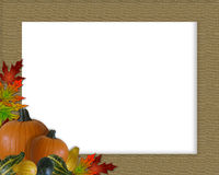 Thanksgiving Autumn Fall Frame Burlap Royalty Free Stock Photo