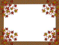 Thanksgiving Autumn Fall leaves Border stock image