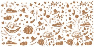Thanksgiving and autumn pattern Royalty Free Stock Photo
