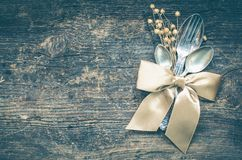 Free Thanksgiving Autumn Place Setting With Cutlery Royalty Free Stock Photography - 101007887