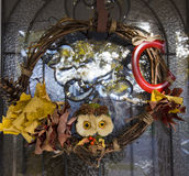 Thanksgiving Autumn wreath Royalty Free Stock Images