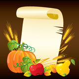 Thanksgiving background. Vector illustrated Thanksgiving day background Royalty Free Stock Image