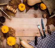Thanksgiving background in Autumn and fall season royalty free stock image
