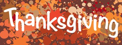 Thanksgiving background. Thanksgiving card in multicolors background Royalty Free Stock Photography