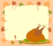 Thanksgiving  background with cooked turkey Royalty Free Stock Photo