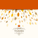 Thanksgiving Background Design Stock Photography