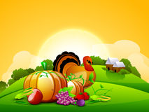 Thanksgiving background. EPS 10. Royalty Free Stock Photos