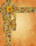 Thanksgiving Background fall ribbons royalty free stock image