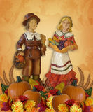 Thanksgiving Background Pilgrims Royalty Free Stock Image