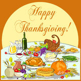 Thanksgiving background with space for text Royalty Free Stock Images