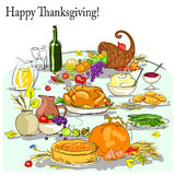 Thanksgiving background with space for text Royalty Free Stock Photography