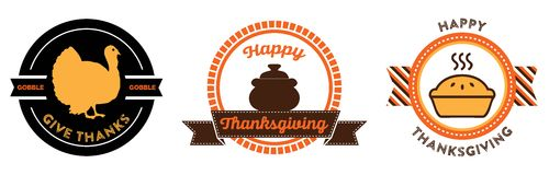 Thanksgiving badges Royalty Free Stock Images