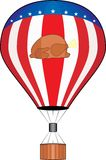 Thanksgiving balloon. Illustration, no gradients used Royalty Free Stock Image