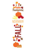 Thanksgiving Banner/Border Stock Photo