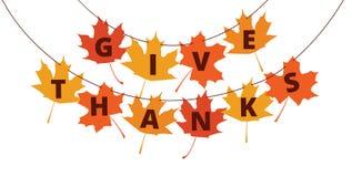 Thanksgiving banner stock illustration