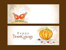 Thanksgiving banner for thanksgiving day celebration. Stock Image