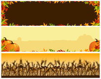 Thanksgiving Banners Royalty Free Stock Photography