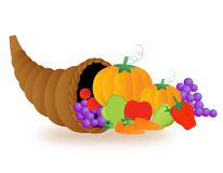 Thanksgiving basket Royalty Free Stock Photography