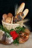 Thanksgiving basket Stock Photography