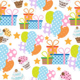 Thanksgiving/birthday background seamless pattern Royalty Free Stock Photography