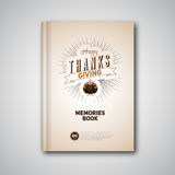 Thanksgiving Book cover, Cartoon of turkey bird for Happy Stock Photos