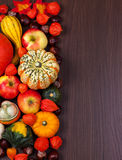 Thanksgiving border Stock Image