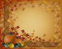 Thanksgiving Border Autumn Fall leaves stock illustration