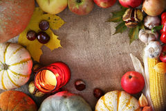 Thanksgiving border stock photo