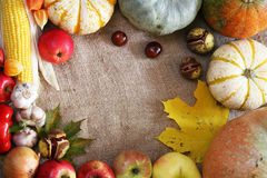 Thanksgiving border Royalty Free Stock Photo