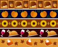 Thanksgiving Borders Set Royalty Free Stock Photography
