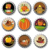 Thanksgiving bottle caps Stock Image