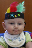 Thanksgiving boy. Infant boy wearing thanksgiving related costume Stock Photography