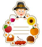 Thanksgiving Boy Book Cover Stock Photo