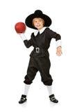 Thanksgiving: Boy Pilgrim Football Player Stock Photos